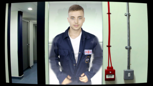 Parry Glasspool from Hollyoaks stars as the astronaut in John Andrew Cameron's short film Standing on Enceladus